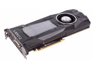 NVIDIA GeForce Titan X (Pascal) (900-1G611-2500-000) 12GB 384-Bit GDDR5X PCI Express 3.0 HDCP Ready SLI Support Video Card