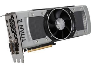 EVGA GeForce GTX TITAN Z DirectX 12 (feature level 11_0) 12GB 768-Bit GDDR5 PCI Express 3.0 SLI Support Video Card
