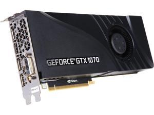 PNY GeForce GTX 1070 DirectX 12 VCGGTX10708PB 8GB 256-Bit GDDR5 PCI Express 3.0 x16 SLI Support Video Card