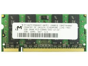 4GB 2x2GB 2Rx8 Non-ECC DDR2 PC2-5300S MT16HTF25664HY-667E1 Laptop Memory OEM