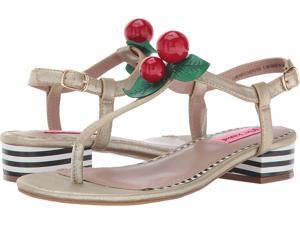 711e22805a2 Betsey Johnson Womens Cherry Split Toe Casual T-Strap Sandals ...