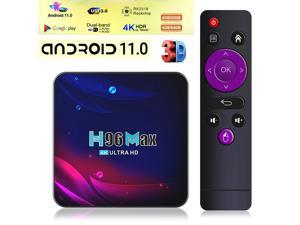 US 128GB Android 11.0 Quad-core TV BOX 4K 2.4G 5G Wifi HDMI Smart Media Player - H96 4GB+64GB