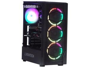 Odyssey Artemis Custom Gaming PC, Black Gaming Case, RGB LED Air Cooling System, Intel Core i5, 16GB DDR4 RAM, 1TB SSD, AMD Radeon RX 580 8GB GDDR5, Windows 10 Pro x64