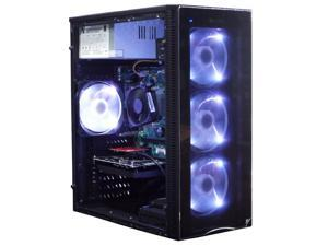Odyssey RTL Elite Custom Gaming PC, Antex NX210 LED Gaming Case, Intel i5 3.2GHz, 8GB RAM, 512 SSD, AMD RX 550, Windows 10 Pro