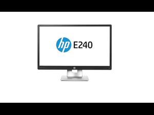 HP M1N99AA#ABA EliteDisplay E240 23.8'' 1080p Full HD LED-Backlit LCD Monitor, Black/Silver Grade A