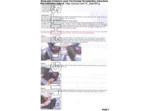 2004 2005 2006 Nissan Sentra Smoked Headlamp Vinyl Film Headlight Overlays