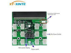PCI-E 12V 64Pin to 12x 6Pin Power Supply Server Adapter Breakout Board for HP 1200W 750W PSU GPU Mining