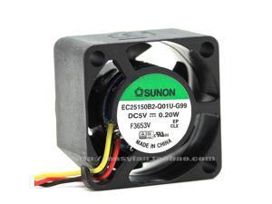 COOLING REVOLUTION EC25150B2-Q01U-G99 2.5cm 25mm fan 2515 25x25x15mm 5V 0.20W Magnetic suspension miniature cooling fan