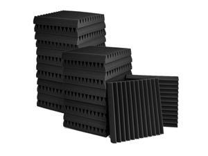 24 Pcs Acoustic Panel,Acoustic Foam Board,Studio Wedge Brick,Acoustic Panel Wedges Foam,for Home and Office,5X30X30 cm