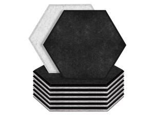 12 Pack Hexagon Acoustic Panels Beveled Edge Sound Proof Foam Panels,Sound Proofing Padding for Wall,Acoustic Treatment