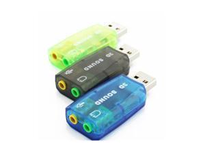 10pcs USB Sound Card USB Audio 5.1 External USB Sound Card Audio Adapter Mic Speaker Audio Interface For PC