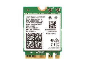 Dual Band Wireless AX200NGW 2.4Gbps 802.11Ax Wireless Intel AX200 WiFi Card Bluetooth 5.0 for Windows 10