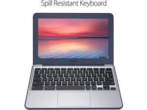 "ASUS Chromebook C202SA-YS02 Laptop Computer, 1.60 GHz Intel Celeron, 4GB DDR3 RAM, 16GB SSD Hard Drive, Chrome, 11"" Screen"