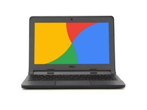 "Dell Chromebook 3120, 2.16 GHz Intel Celeron, 4GB DDR3 RAM, 16GB SSD Hard Drive, Chrome, 11"" Screen (Grade B)"