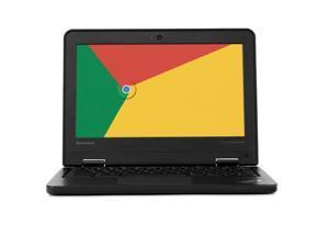 Lenovo ThinkPad 11e Chromebook Laptop Computer, 11.6in High Definition Display, Intel Quad-Core Processor, 4GB RAM, 16GB Solid State Drive, Chrome OS, WiFi (Grade B)