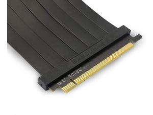 Phanteks PH-CBRS_PR22 – 220mm Premium Shielded High-Speed Technology PCI-E 3.0 x16 Riser Cable, 90o Adapter
