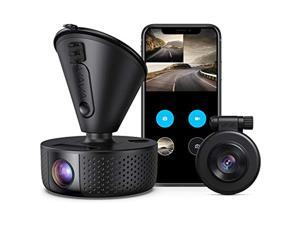 VAVA VD002 Dual 1920x1080P FHD Dash Cam, 2560x1440P Single Front, 30fps - 60fps Clear HD Videos, Night Vision, 24hr Parking Mode, Built-In WiFi, G-Sensor, Loop Recording, Supports 128GB Max