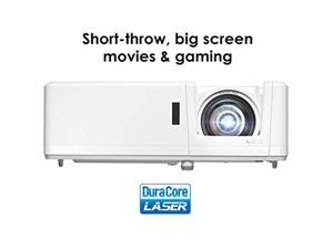 Optoma GT1090HDR Short Optoma GT1090HDR Short Throw Laser Gaming Projector | 4K HDR Input | Lamp-Free Reliable Operation 30,000 Hours | Bright 4,200 lumens for Day and Night | HDR + HLG Compatible