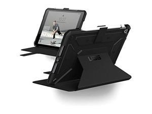 UAG iPad 10.2-inch (8th Gen, 2020) & (7th Gen, 2019) Case, Metropolis Rugged Heavy Duty Protective Cover Multi-Angle Viewing Folio Stand with Pencil Holder, Black