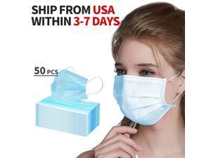 ZSZBACE Blau Mundschutz Maske 3-lagig Einweg-Masken(50 Stück )