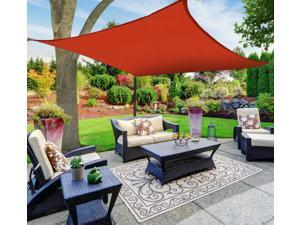 Sun Shade Sail Canopy, Square, Red, 16 ft. x 16 ft. - BLOW OUT SALE