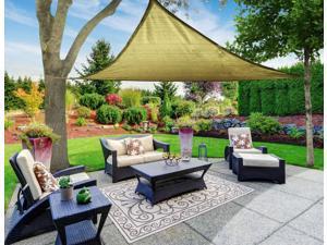 18x18' Square Sun Shade Sail Patio Deck Garden Outdoor Canopy Cover UV  Blocking Dark Red - Newegg com