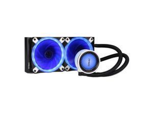 Antec Mercury 240 Liquid CPU Cooler, 240mm Radiator, 12cm PWM Fan - Temp Indicating LED Colours