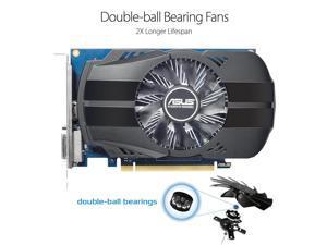 ASUS GeForce GT 1030 90YV0AU0-M0NA00 2GB 64-Bit GDDR5 PCI Express 3.0 HDCP Ready Video Card