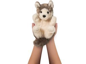 Douglas Cuddle Toys Gray Wolf Lil' Handful 6""