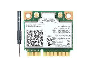 Dual Band AC1200 7260HMW 7260AC Wireless 2X2 Mini PCI-E Wi-Fi Network Card, Bluetooth 4.0, Up to 867Mbps (5Ghz) + 300Mbps (2.4Ghz), IEEE802.11ac/a/b/g/n, Windows 7/8/10 For Laptop PC