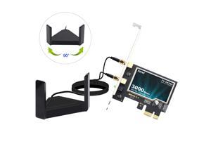 fenvi PCE-AX200T WiFi 6 PCIe Desktop Intel AX200 Wifi Card 3000Mbps Bluetooth 5.0 802.11ax/ac Adapter, Wireless PCI Express  2.4Ghz/5.0Ghz Dual Band MU-MIMO OFDMA Magnet Antenna for Windows 10 Linux