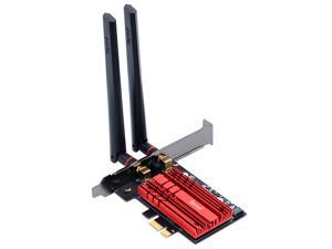 fenvi FV-AX3000 WiFi 6 PCI-E 3000Mbps Bluetooth 5.0 Wifi Adapter Intel AX200 Wi-fi Card Wireless PCI Express 802.11ax/ac 2.4Ghz/5.0Ghz Dual Band MU-MIMO OFDMA With Heat Sink, for Windows 10 Linux
