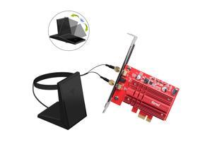 fenvi FV-2030T Wireless Dual Band AC2030 PCI Express Intel 9260 Wifi Adapter For Desktop PC, 1730Mbps(5Ghz) + 300Mbps(2.4Ghz), Bluetooth 5.0, IEEE 802.11ac, Windows 10, Support MU-MIMO, 9260NGW Card