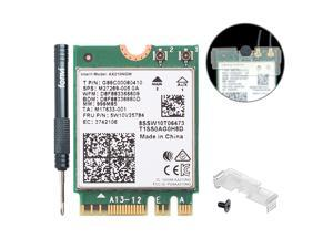 Fenvi Dual Band Wi-Fi 6E AX210 802.11ax WiFi Card 2400Mbps 5Ghz Wireless Module MU-MIMO for Laptop Desktop,With Intel AX210,Bluetooth 5.2,Internal WiFi Adapter Support Windows 10 64bit , M.2/NGFF 2230