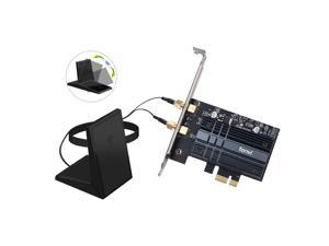 fenvi FV-AX3000 Wifi 6 3000Mbps PCIe Wireless Wifi Adapter Intel AX200 Network Wlan Card Bluetooth 5.1 For PC, IEEE 802.11ax/ac, Dual Band 2.4Ghz/5Ghz, MU-MIMO, Windows 10, PCI Express Magnet Antenna