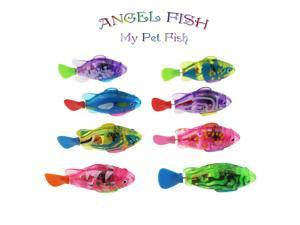 Tipmant Baby Toddler Bath Toy Electric Fish Animal Pets Goldfish Swim in Water Tank, Bathtub, Swimming Pool for Kids Gift