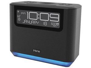 iHome IAVS16B Bedside Smart Alarm Clock with Alexa Radio - Black