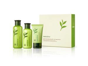 Innisfree Green Tea Balancing Skin Care Special Set (For Normal To Combination Skin)K-Beauty Korean Cosmetics 1set, 3pcs