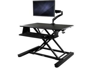 """StarTech.com BNDSTSLGSLIM Sit-Stand Desk Converter with Monitor Arm - 35"""" Wide Work Surface - for up to 30"""" Monitor"""