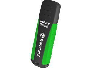 Transcend JetFlash 810 64 GB USB 3.0 Flash Drive - Black, Green