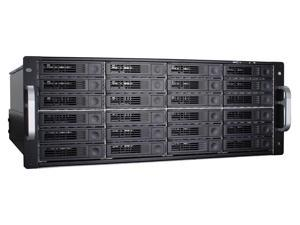 RAID Machine I6424RM 24-bay iSCSI + eSATA + USB3 SAN Rackmount Enclosure w/ Redundant PSU