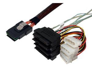 0.5m SFF-8087 to SFF-8482 x 4 Fanout SAS Cable