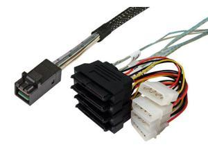 1m SFF-8643 to 4xSFF-8482 Internal SAS Cable