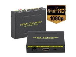 HDMI Audio Extractor, HDMI to HDMI and Optical Toslink SPDIF and RCA(L/R) Stereo Analog Outputs Converter for PS3 PS4 Xbox STB Apple TV Amazon Fire TV Stick Roku Chromecast,Support 4K@30Hz,1080P,3D