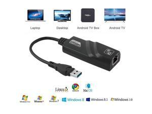USB to Ethernet Adapter,USB3.0 Network Adapter (and Cat 6 Ethernet Cable 6ft),ESTONE 10/100/1000 RJ45 LAN Wired Adapter for Dell HP Labtop, MacBook, Windows 10, 8.1, Mac OS
