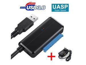 """ESTONE USB 3.0 To Sata Adapter Converter Cable 22pin SataIII To USB3,0 Adapters For 2.5""""3.5"""" Sata HDD SSD High Quality for WD, Seagate, Toshiba, Samsung, Hitachi-Black"""