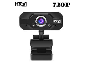 HXSJ 720P HD Webcam Web Camera Built-in Microphone, Skype Web Cam HD for PC Laptop Computer, USB Plug Play for Video Calling SNS online chat