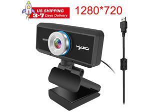 ESTONE S90 HD Webcam Desktop Laptop Web Camera 720P Web Cam CMOS Sensor with Built-in Microphone for Video Calling