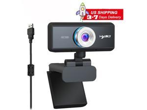 HXSJ S90 1MP Webcam with Mic, HD 720p Webcam with Microphone for Desktop,Streaming Webcam for Computer Monitor USB Webcam with 90°Wide View Angle,PC Camera Webcam for Video Calling and Recording