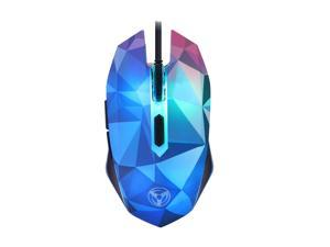 ESTONE X8 2400DPI 7 Buttons Dazzle Color Diamond Edition Gaming Mouse Wired Computer Optical Mouse Gamer for Mac / PC / Laptop